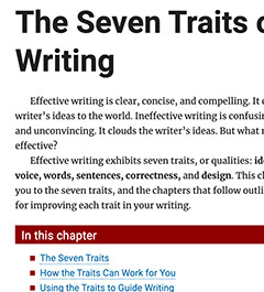 The Traits of Writing